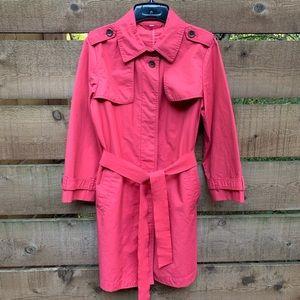 Pink Gap raincoat trench coat M
